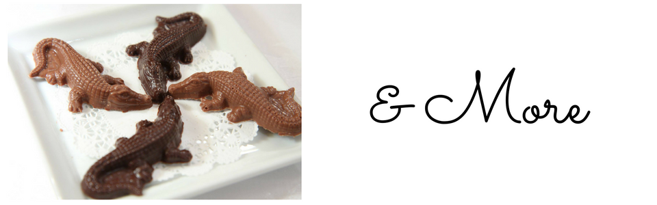 image of our signature chocolate crocodiles and more