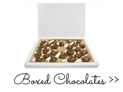 View of boxed chocolates